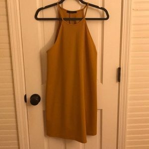 Mustard colored dress that does not wrinkle!!!